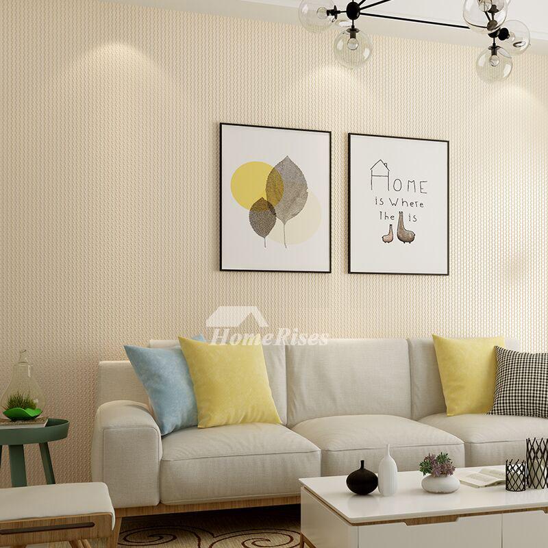 White Grey Yellow Wallpaper Design Modern Non Woven Fabric Kitchen