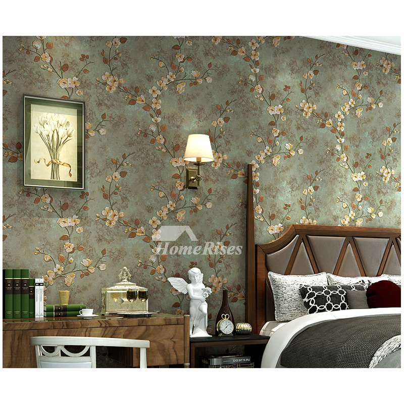 Floral Wallpaper Vintage Non Woven Fabric Home Art Decor ...