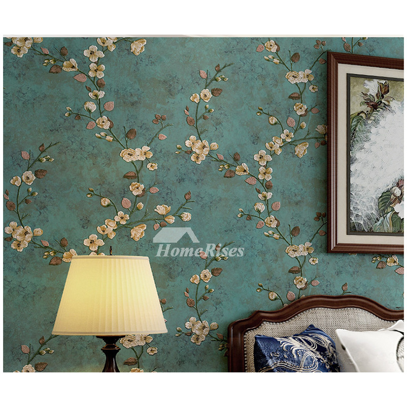 Floral Wallpaper Vintage Non Woven Fabric Home Art Decor