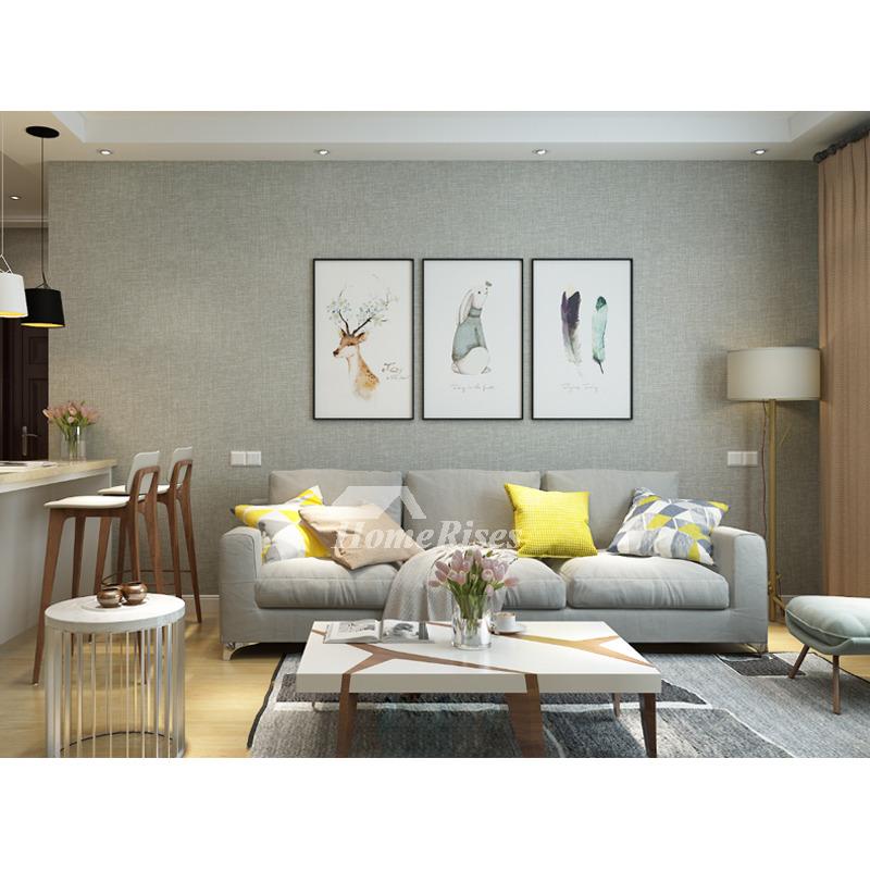 Textured Wallpaper Beige/Coffee/Gray/White Modern Wallpaper PVC