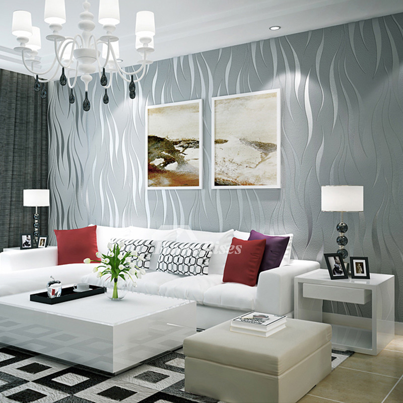 3d Wallpaper Textured Modern Art Decor Abstract Room Silver White