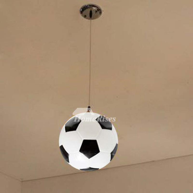 Small Pendant Lights Glass Football Cheap Red Black