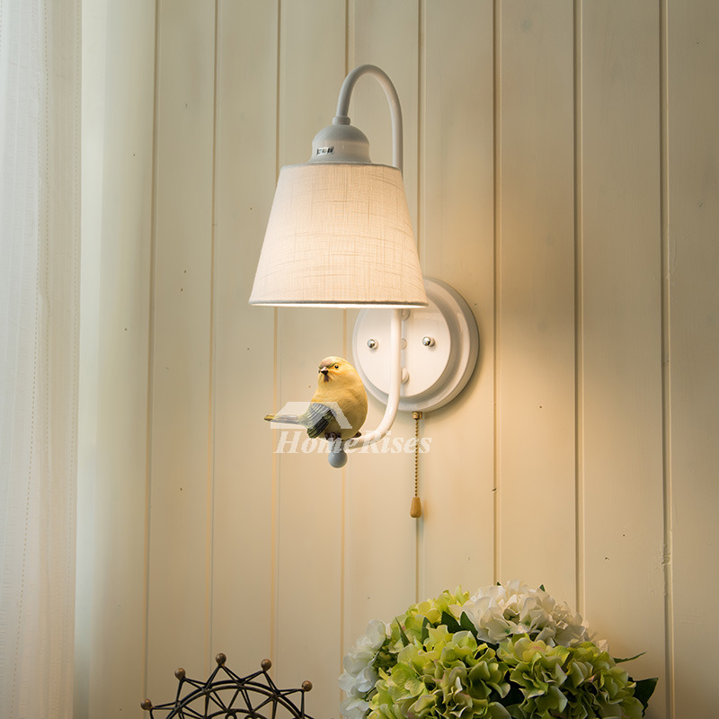 bedroom wall sconces fabric wrought iron small kid modern