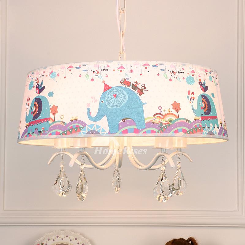 Chandelier For Nursery Elephant 3 5 Light Drum Kids Room