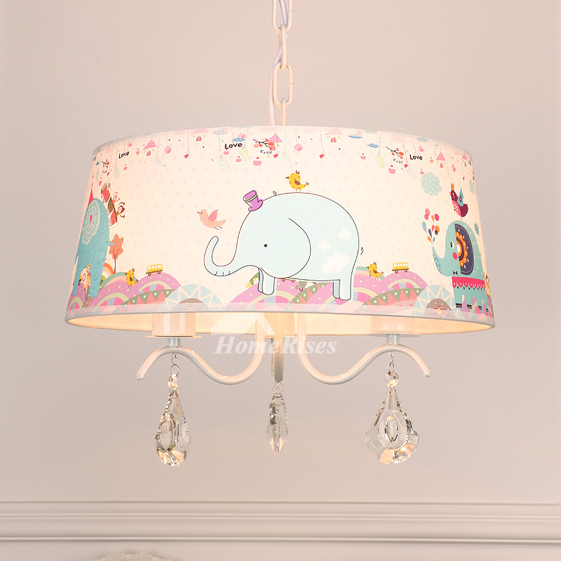 Chandelier For Nursery Elephant 3 5 Light Drum Kids Room