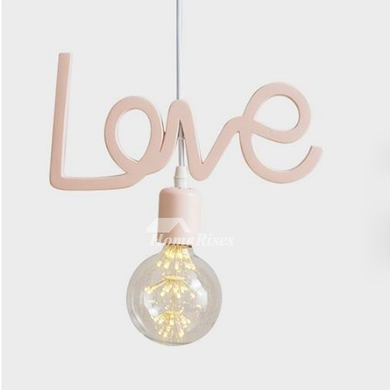 Pink Pendant Light Romantic Fixture Hanging Girls Small Bedroom