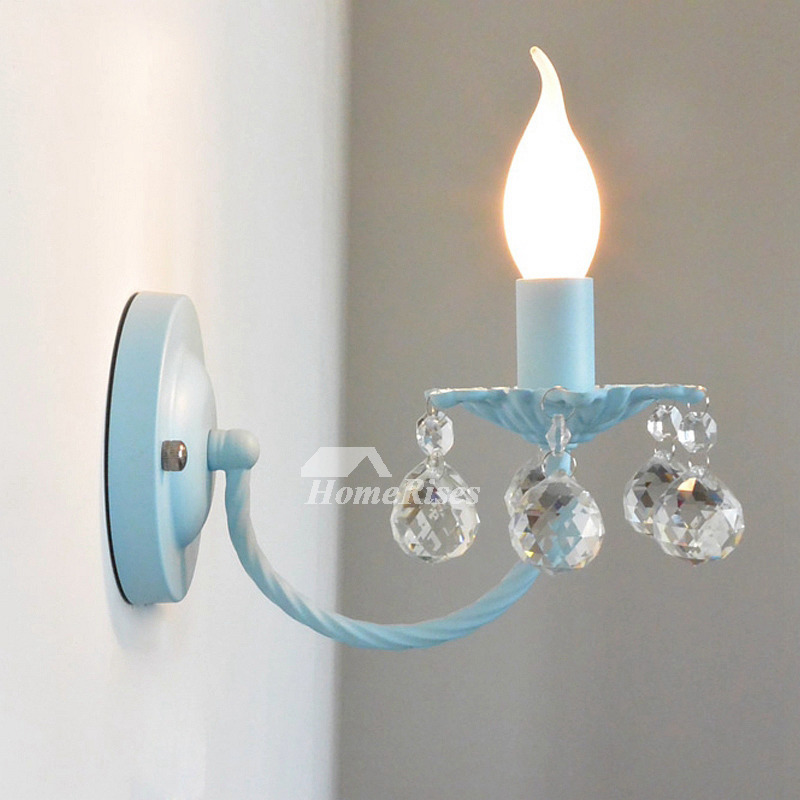 966a7869c Pictures Show. Crystal Wall Sconce Lighting Wrought Iron Decorative  Bathroom Candle ...