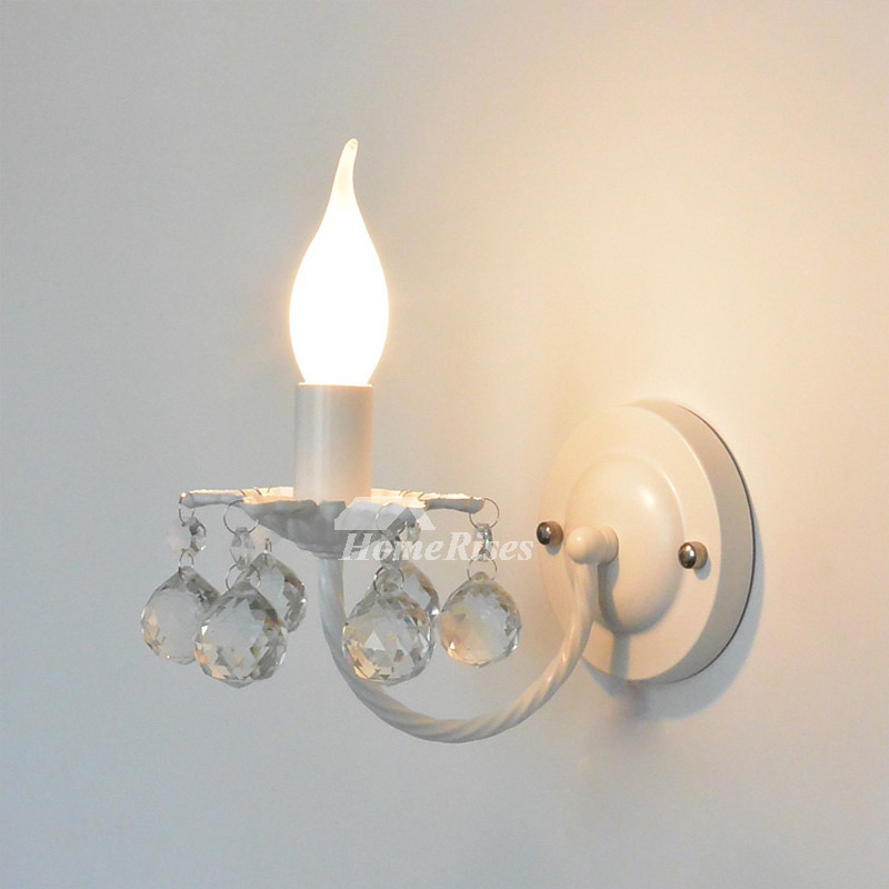 Crystal Wall Sconce Lighting Wrought Iron Decorative ...