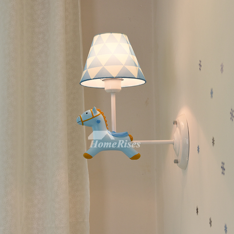 Nordic Modern Wall Sconces Kids Nursery Blue Pink Wrought