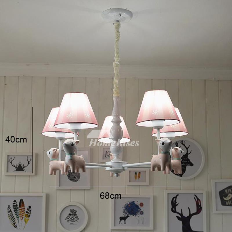 Kids chandelier nursery 56 light wrought iron fabric pinkblue hanging aloadofball Gallery