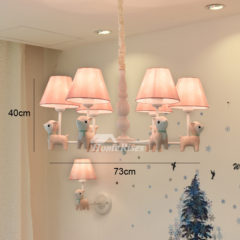 Kids chandelier nursery 56 light wrought iron fabric pinkblue hanging aloadofball