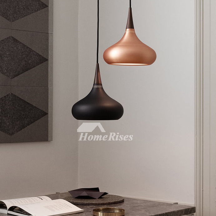 Designer Kitchen Pendant Lights Metal Rose Gold/Black