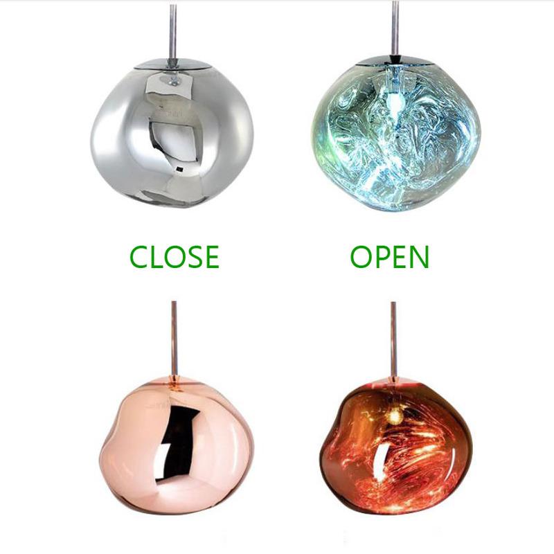 Glass Pendant Lights Outdoor Fixture Unique Creative Hanging Large