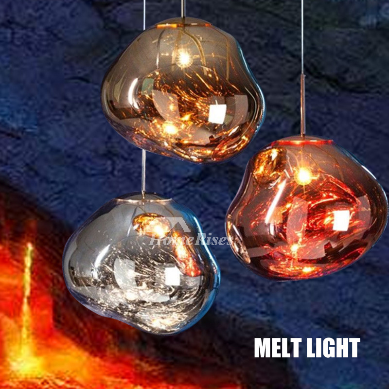 Glass Pendant Lights Outdoor Fixture Unique Creative Hanging Large