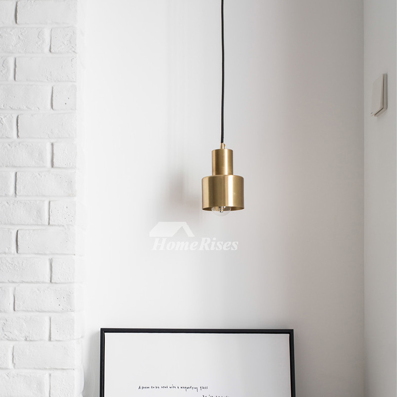 Brass Pendant Light Gold Hanging Mini Kitchen Fixture