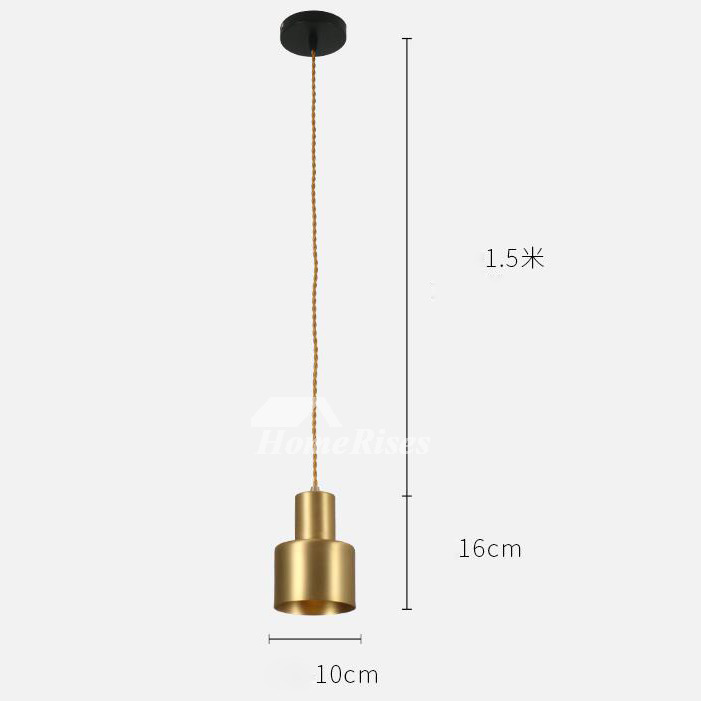 Brass Pendant Light Gold Hanging Mini Kitchen Fixture