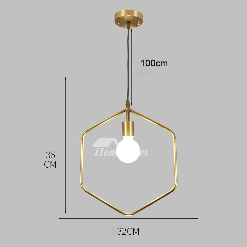 Luxury Brass Pendant Light Designer Gold Fixture Hanging