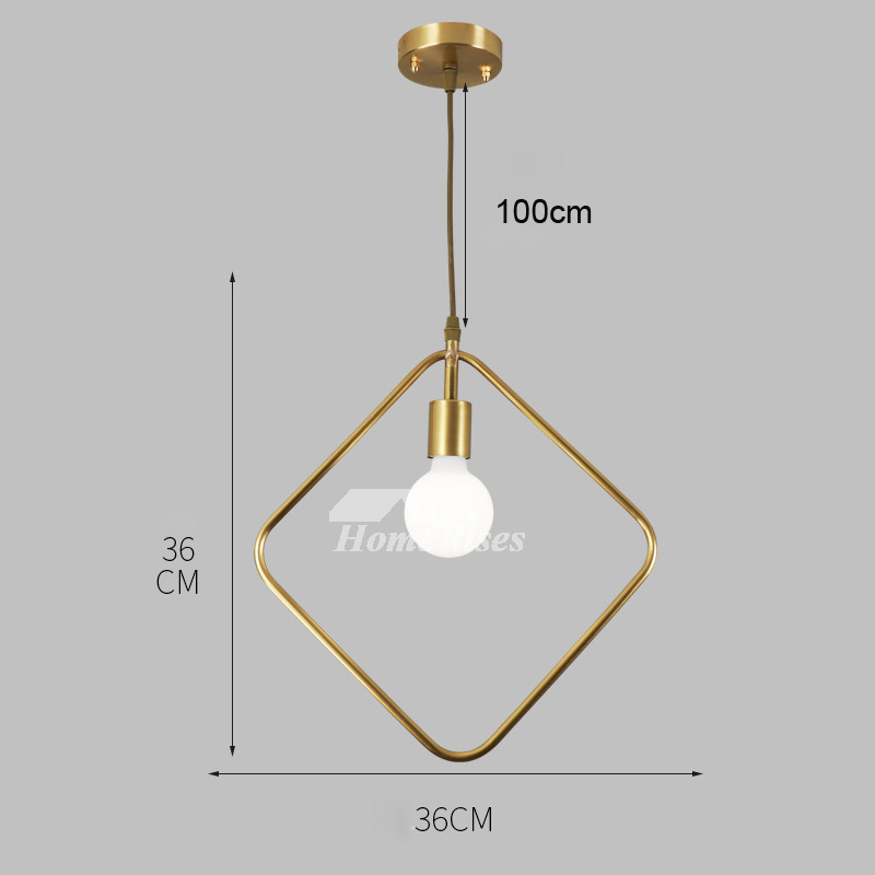 Luxury Brass Pendant Light Designer Gold Fixture Hanging