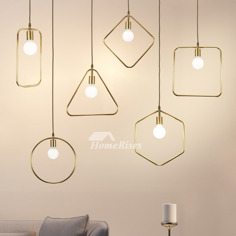 Luxury Brass Pendant Light Designer Gold Fixture Hanging Kitchen