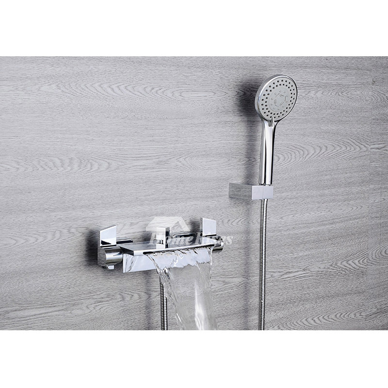Wall Mount Chrome Oil Rubbed Bronze Tub Faucet Silver