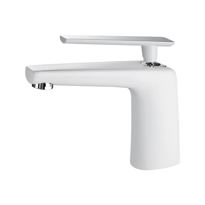 Modern Bathroom Faucets White/Silver/Black Single Handle Vessel