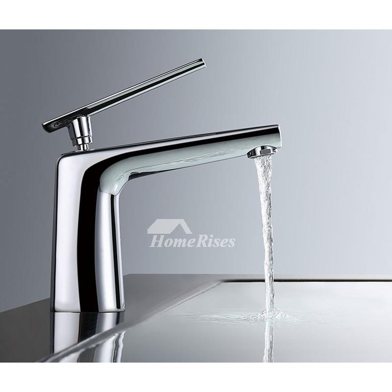 Modern Bathroom Faucets Whitesilverblack Single Handle Vessel