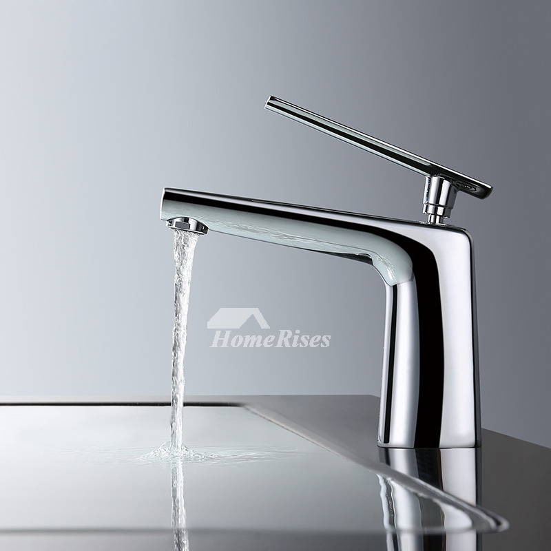 Modern Bathroom Faucets White Silver Black Single Handle
