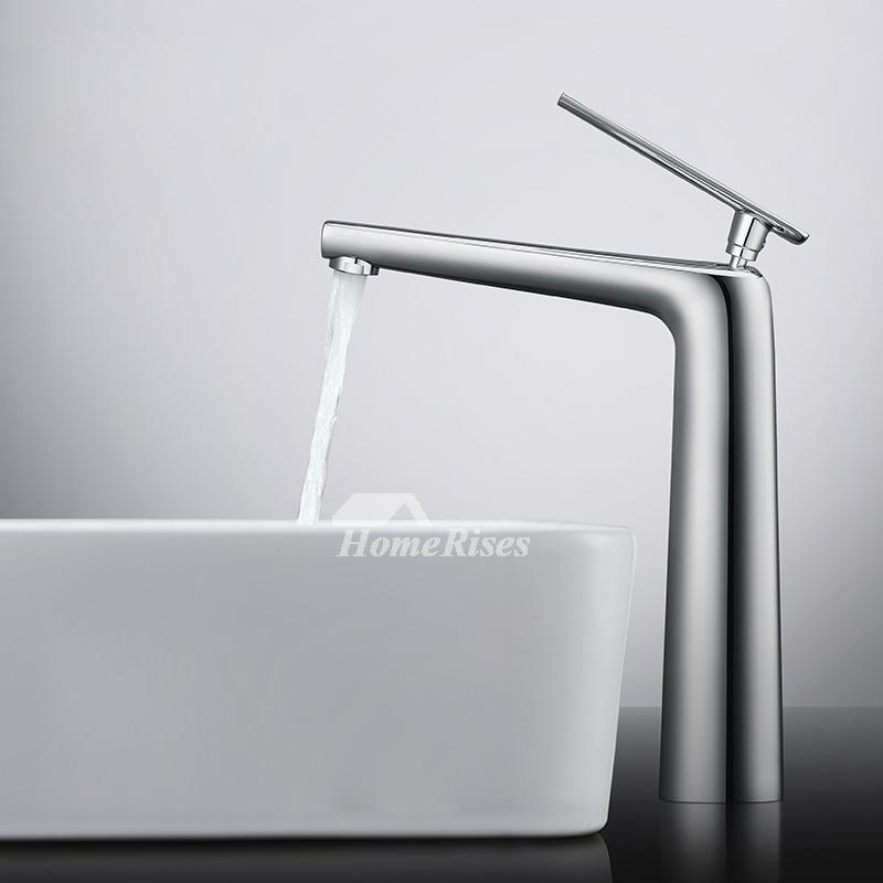 Modern Bathroom Faucets White Silver Black Single Handle