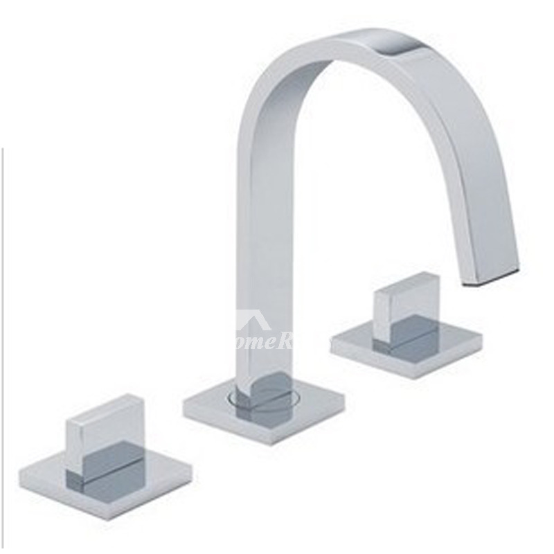 High End Bathroom Faucets Hole Widespread SilverGold Sink Chrome - Gold and silver bathroom faucets