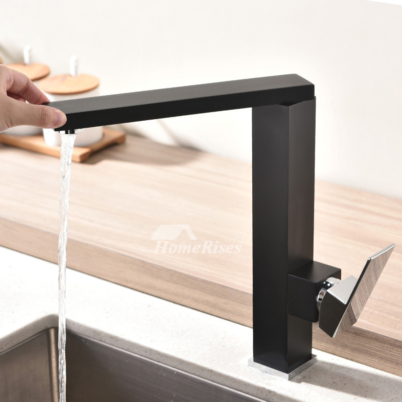 High End Kitchen Faucets Black Silver Oil Rubbed Bronze