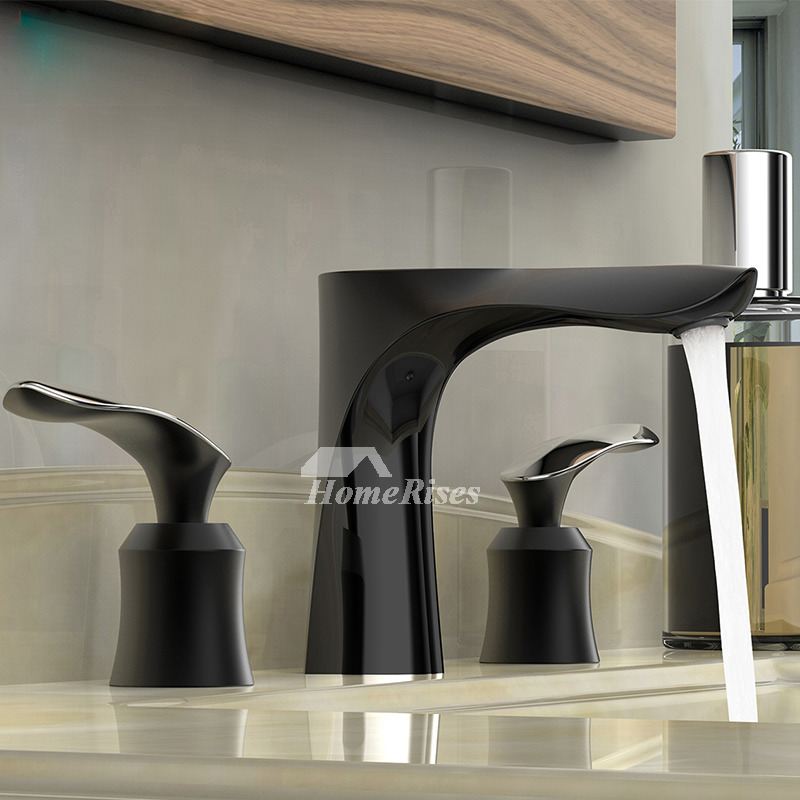 Chrome Door Knobs >> Silver/Black/Gold Oil Rubbed Bronze Tub Faucet 3 Hole Brass Two Handle
