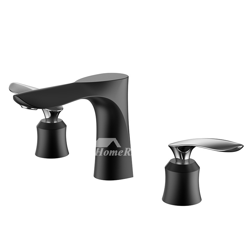 Silver Black Gold Oil Rubbed Bronze Tub Faucet 3 Hole