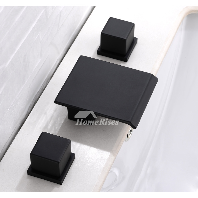 Black Bathroom Faucets 3 Hole Oil Rubbed Bronze Square