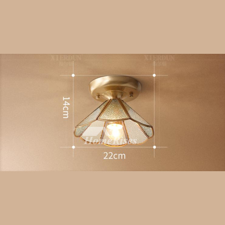 Discount Ceiling Light Fixtures: Semi Flush Ceiling Lights Glass Brass Fixture Bathroom