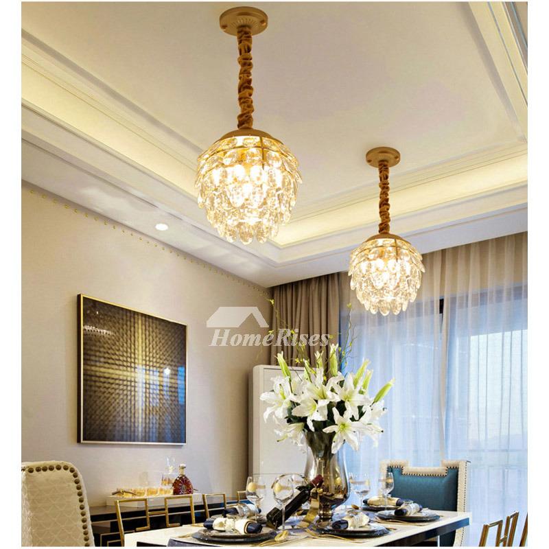 small crystal chandelier hanging hardware bedroom luxury