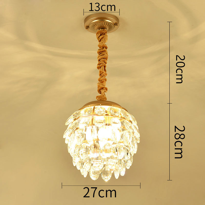 Small Crystal Chandelier Hanging Hardware Bedroom Luxury