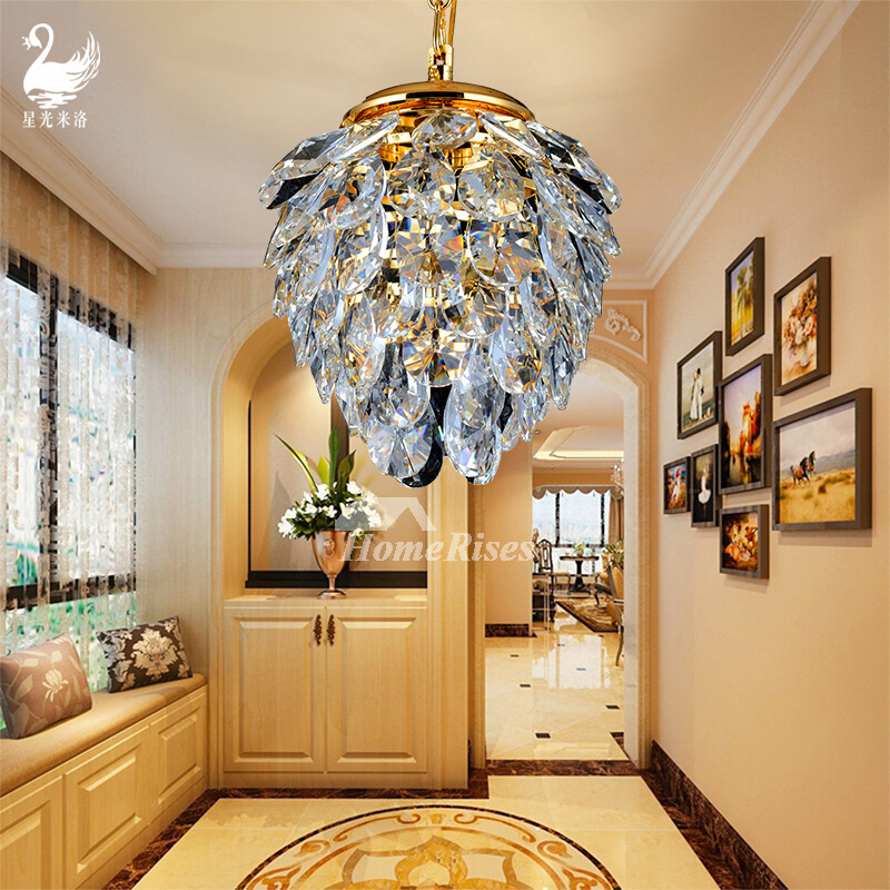 Small Crystal Chandelier Hanging Hardware Bedroom Luxury Rustic