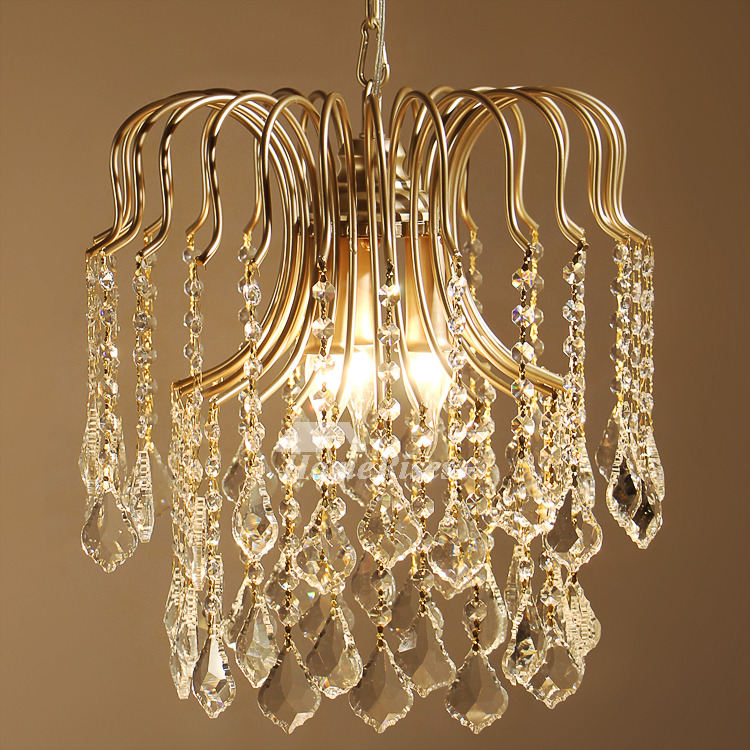 Mini Crystal Chandelier Hanging White Black Gold Wrought