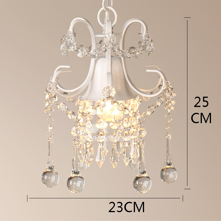 Mini Chandelier Crystal Hanging Wrought