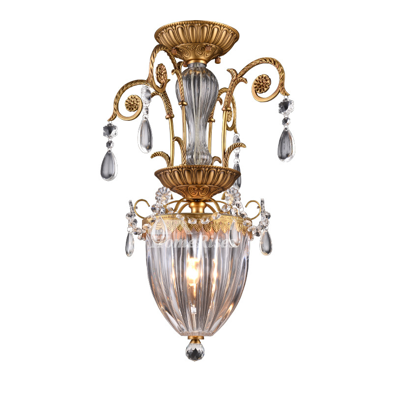 Mini Crystal Chandeliers Glass Metal Lighting Foyer