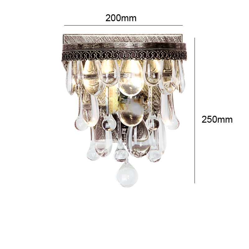 Crystal Wall Sconces Silver Gold Rustic