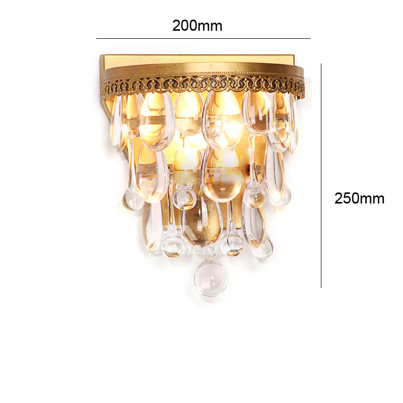 Crystal Wall Sconces Silver/Gold Rustic Lighting Bedroom ...