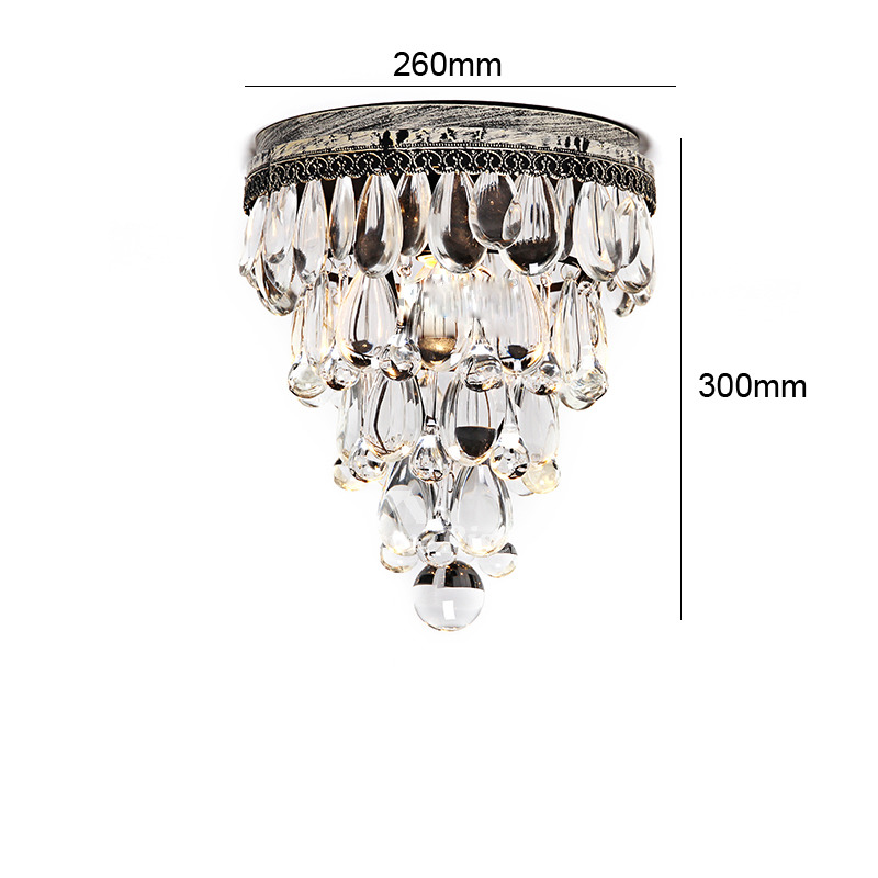 Crystal ceiling light wrought iron flush mount bedroom fixture rustic aloadofball Choice Image