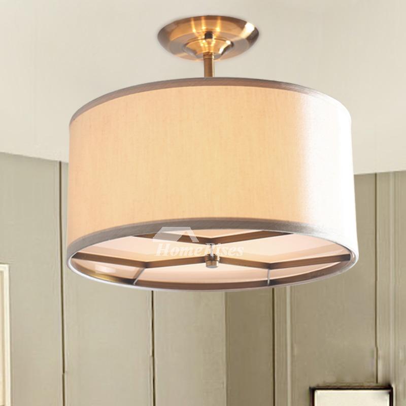 Semi Flush Ceiling Light Rustic Drum Kitchen Fixture