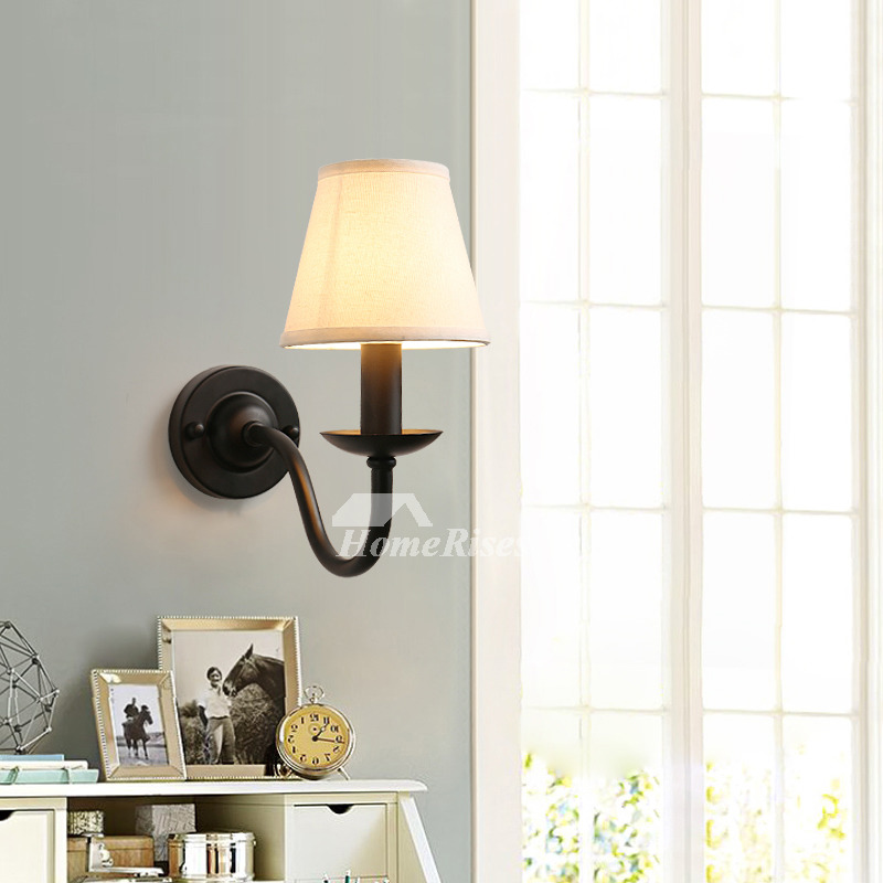 Rustic Wall Sconces Black Wrought Iron