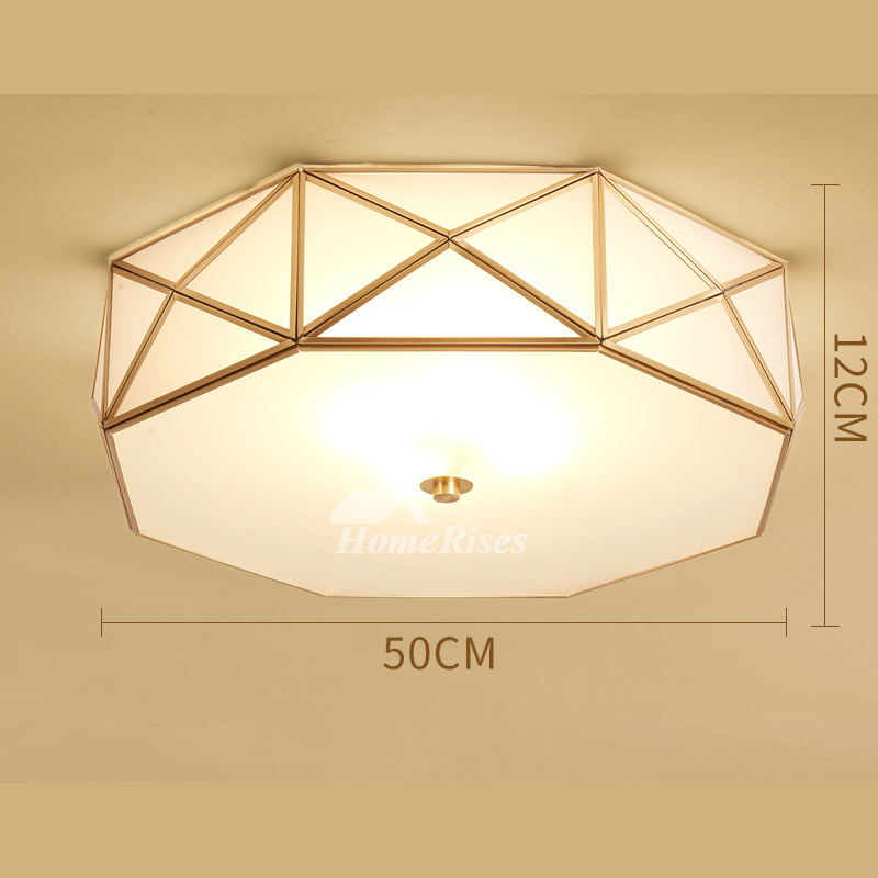 Ceiling Light Fixtures Glass Brass E27 Bedroom Unique 4/5 Light White