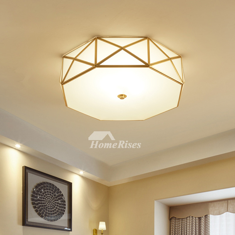 Ceiling Light Fixtures Glass Brass E27 Bedroom Unique 4 5