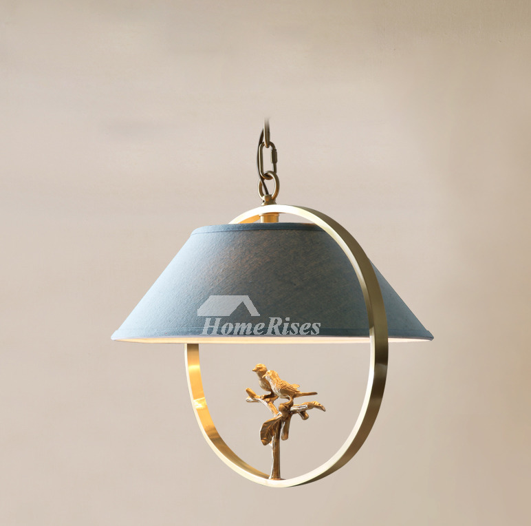 Bird chandelier brass fabric rustic hanging bedroom vintage fixture aloadofball Gallery