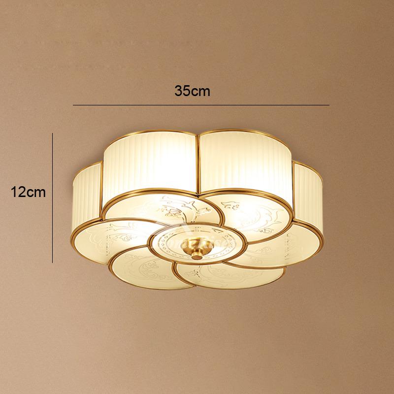 Flush Mount Ceiling Light Glass 3 4 Light Brass Bathroom Vintage