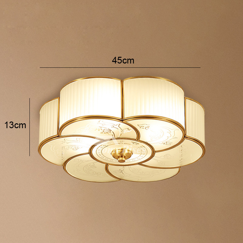 Flush mount ceiling light glass 3 4 light brass bathroom - Flush mount bathroom ceiling lights ...